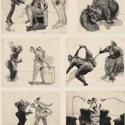 William Kentridge - Domestic scenes - They also wait who only…